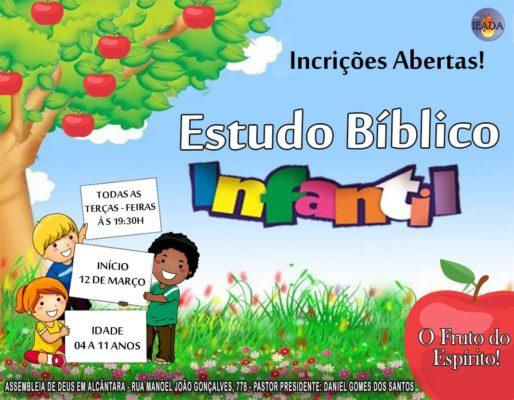 Estudo Bíblico Infantil em nossa Sede